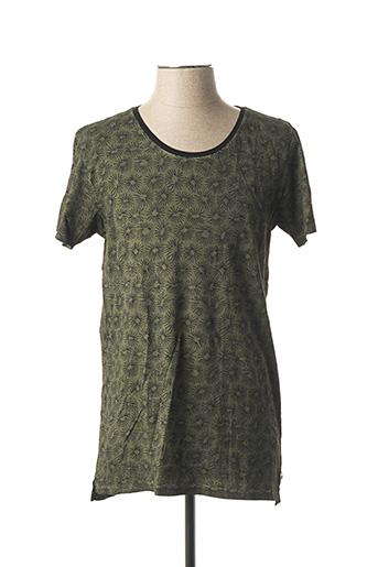 T-shirt manches courtes vert SCOTCH & SODA pour homme