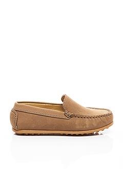 Chaussures bâteau beige MERCREDI APRÈS-MIDI pour garçon