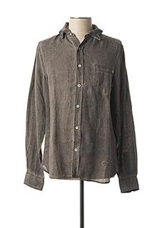 Chemise manches longues marron FREEMAN T.PORTER pour homme