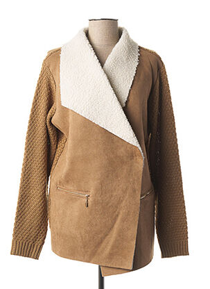 Veste casual marron JULIE GUERLANDE pour femme