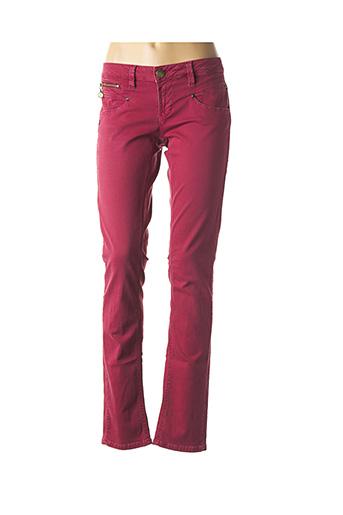 Pantalon casual rouge FREEMAN T.PORTER pour femme