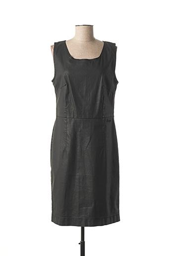 Robe mi-longue noir KANOPE pour femme