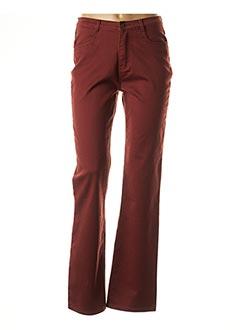 Pantalon casual rouge I.QUING pour femme