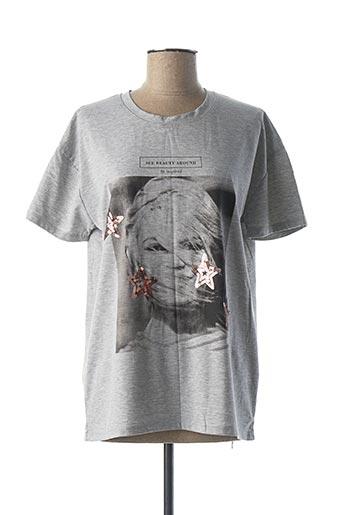 T-shirt manches courtes gris BRIGITTE BARDOT pour femme