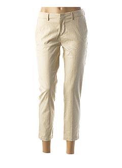Pantalon 7/8 beige REIKO pour femme