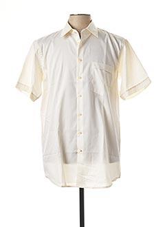 Chemise manches courtes jaune JEAN CHATEL pour homme