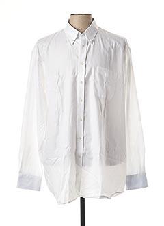Chemise manches longues blanc JEAN CHATEL pour homme