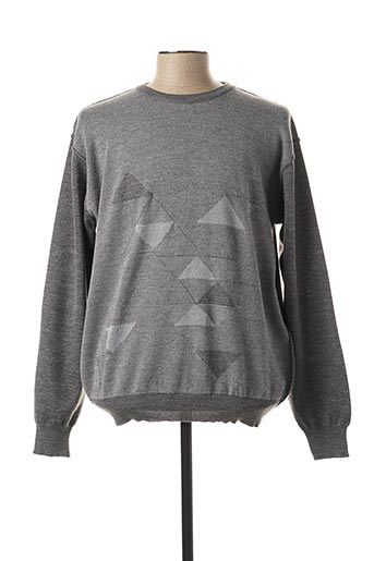 Pull col rond gris BERAC pour homme