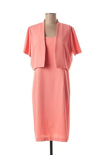 Robe mi-longue orange JEAN DELFIN pour femme