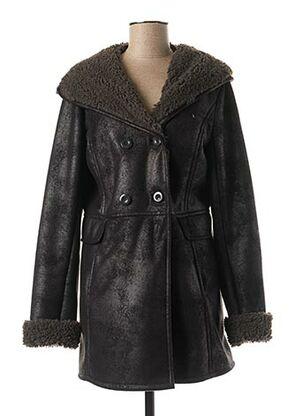 Manteau court noir KARTING pour femme