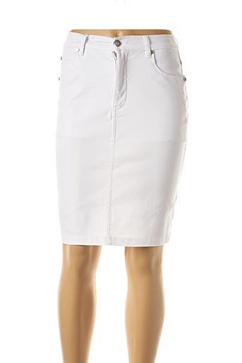 Jupe mi-longue blanc MARBLE pour femme