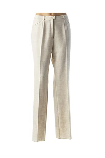 Pantalon chic beige CHRISITNA M pour femme