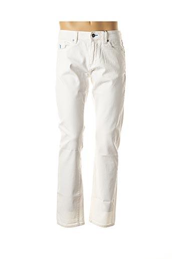 Pantalon casual blanc CARNET DE VOL pour homme