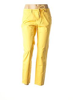 Pantalon 7/8 jaune ONLY pour femme