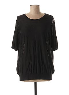 Pull col rond noir YAYA pour femme