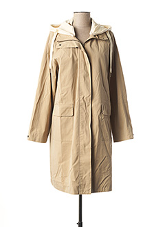 Manteau long beige YAYA pour femme