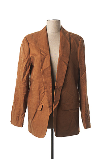 Veste chic / Blazer marron YAYA pour femme
