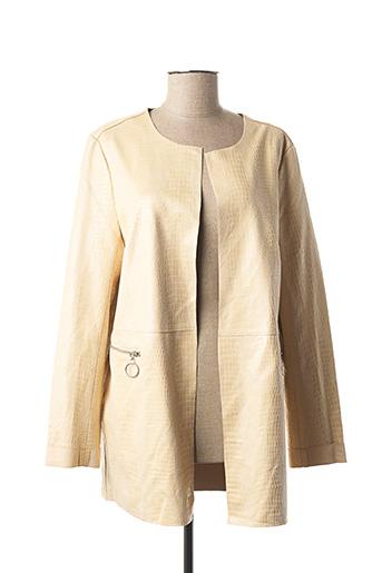 Veste simili cuir beige ANNA pour femme