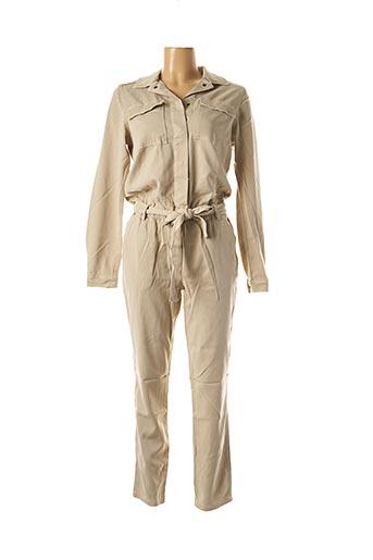 Combi-pantalon beige YAYA pour femme