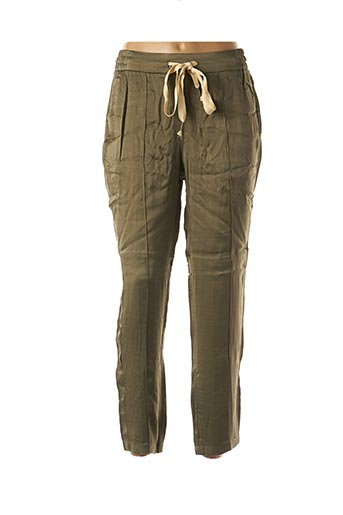 Pantalon 7/8 vert YAYA pour femme