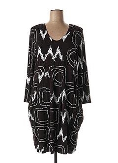 Robe mi-longue noir OLIVER JUNG pour femme