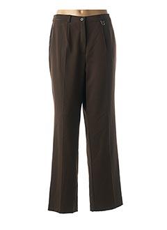 Pantalon chic marron GELCO pour femme