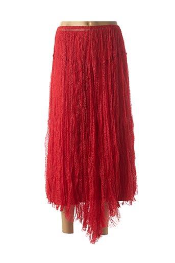 Jupe longue rouge DECA pour femme