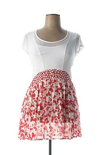 Robe courte rouge DECA pour femme