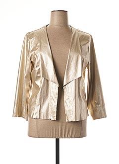 Veste simili cuir jaune EDAS pour femme
