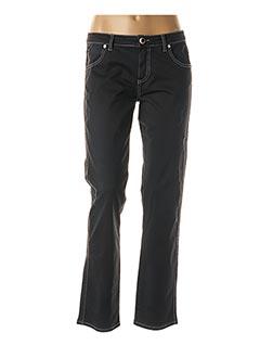 Jeans coupe slim noir DANIELA DALLAVALLE pour femme