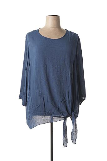 Blouse manches longues bleu CISO pour femme
