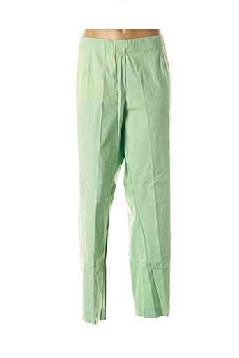 Pantalon 7/8 vert ADELINA BY SCHEITER pour femme
