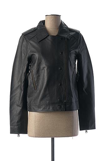 Veste en cuir noir COP COPINE pour femme