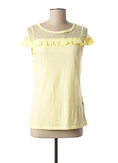 T-shirt manches courtes jaune NAF NAF pour femme