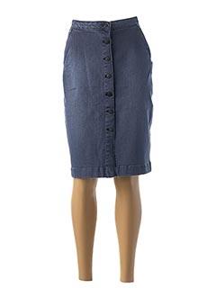 Jupe mi-longue bleu NAF NAF pour femme