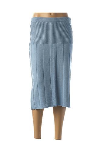 Jupe mi-longue bleu BGN pour femme