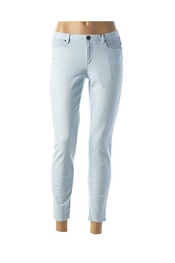 Pantalon 7/8 bleu NAF NAF pour femme