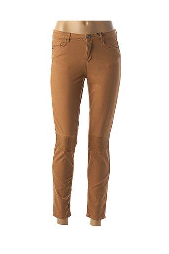 Pantalon 7/8 marron NAF NAF pour femme