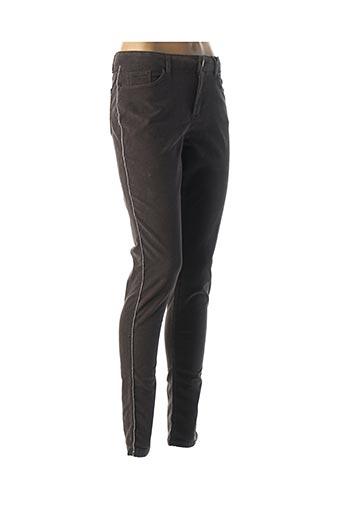 Pantalon casual gris NAF NAF pour femme
