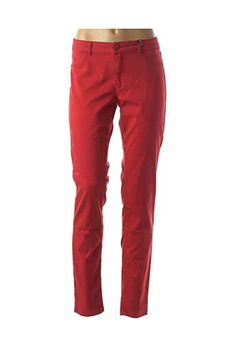Pantalon casual rouge NAF NAF pour femme