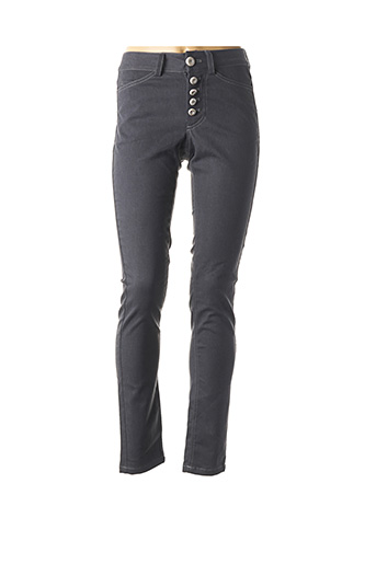 Pantalon casual gris BLEU BLANC ROUGE pour femme