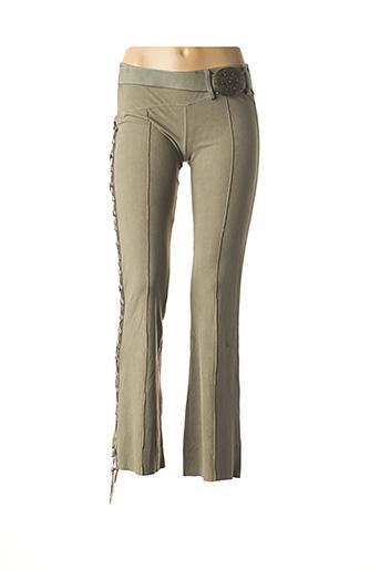 Pantalon casual vert COLLECTION IRL pour femme