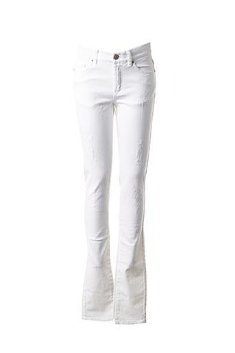 Jeans coupe slim blanc IKKS pour femme