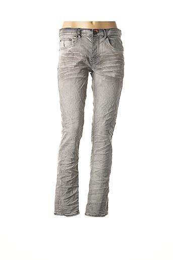 Jeans coupe slim gris DEEPEND pour femme