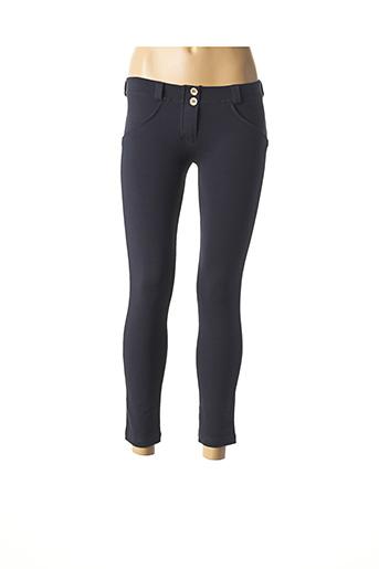 Pantalon 7/8 bleu FREDDY pour femme