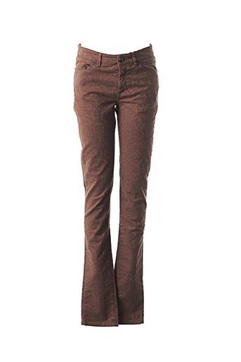 Pantalon casual marron IKKS pour femme