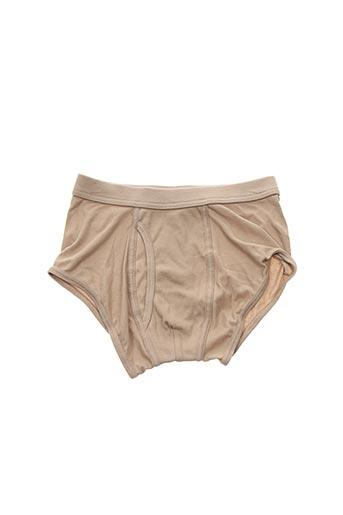 Slip/Culotte beige THE WHITE BRIEFS pour homme