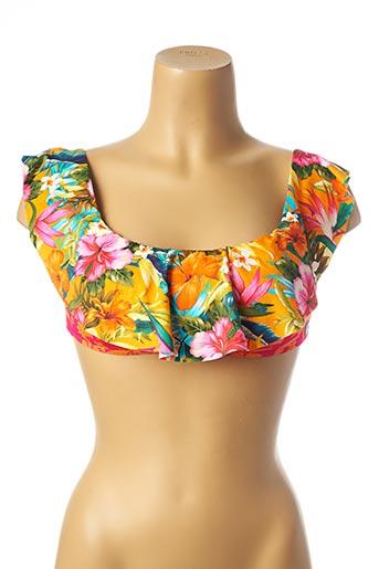 Haut de maillot de bain orange BANANA MOON pour femme