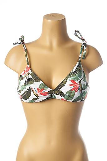 Haut de maillot de bain vert BANANA MOON pour femme