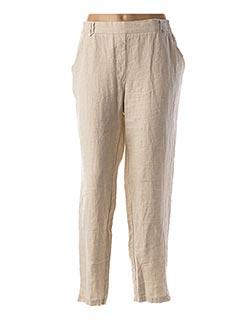 Pantalon 7/8 beige EL INTERNATIONALE pour femme